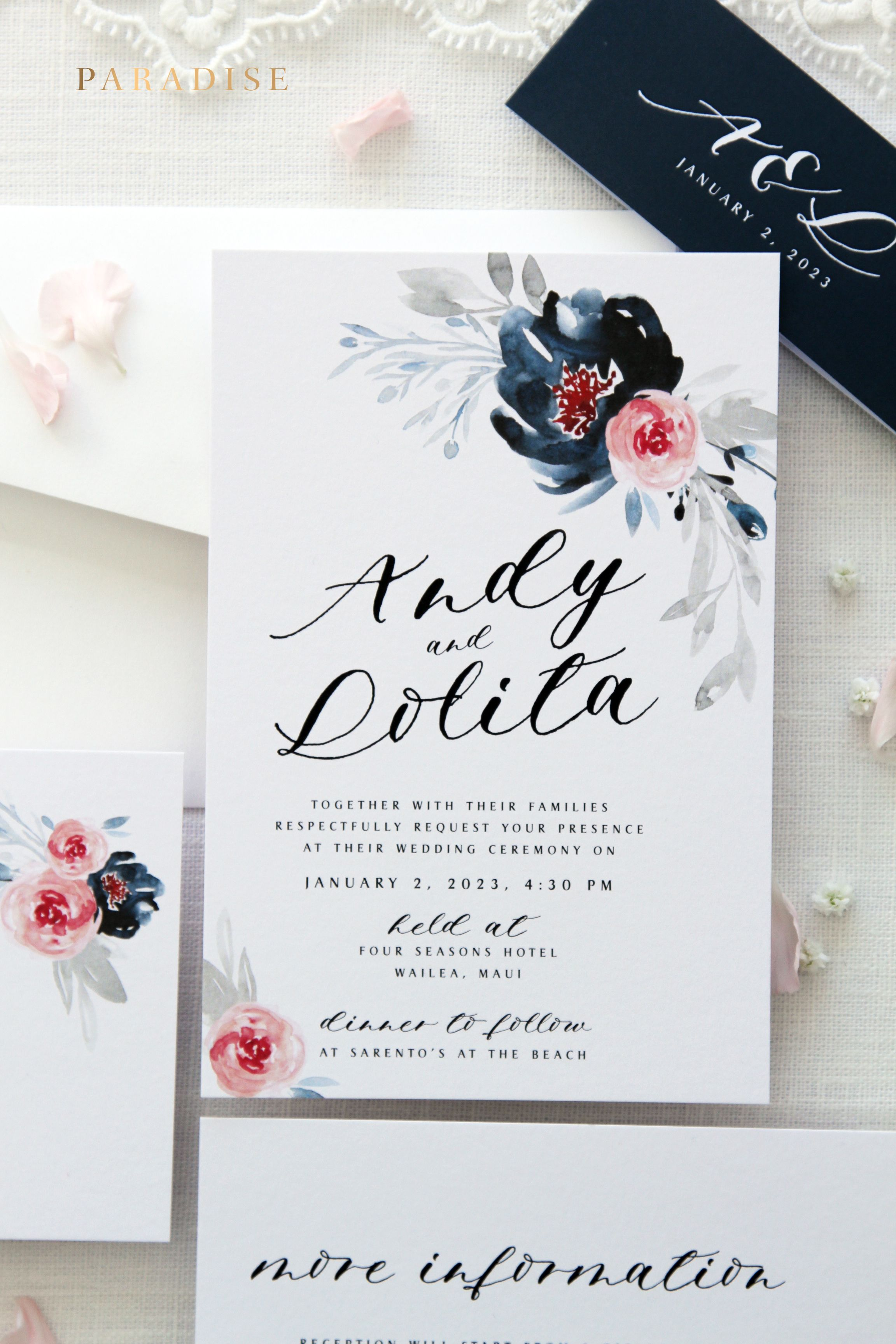 Liberty Watercolour Flowers Wedding Invitation Sets Printable Wedding Stationery Printable Wedding Invitations Wedding Invitation Kits Wedding Invitations Diy