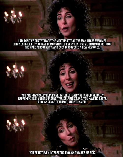 Lol The Witches Of Eastwick The Witches Of Eastwick Cher Quotes Movie Quotes