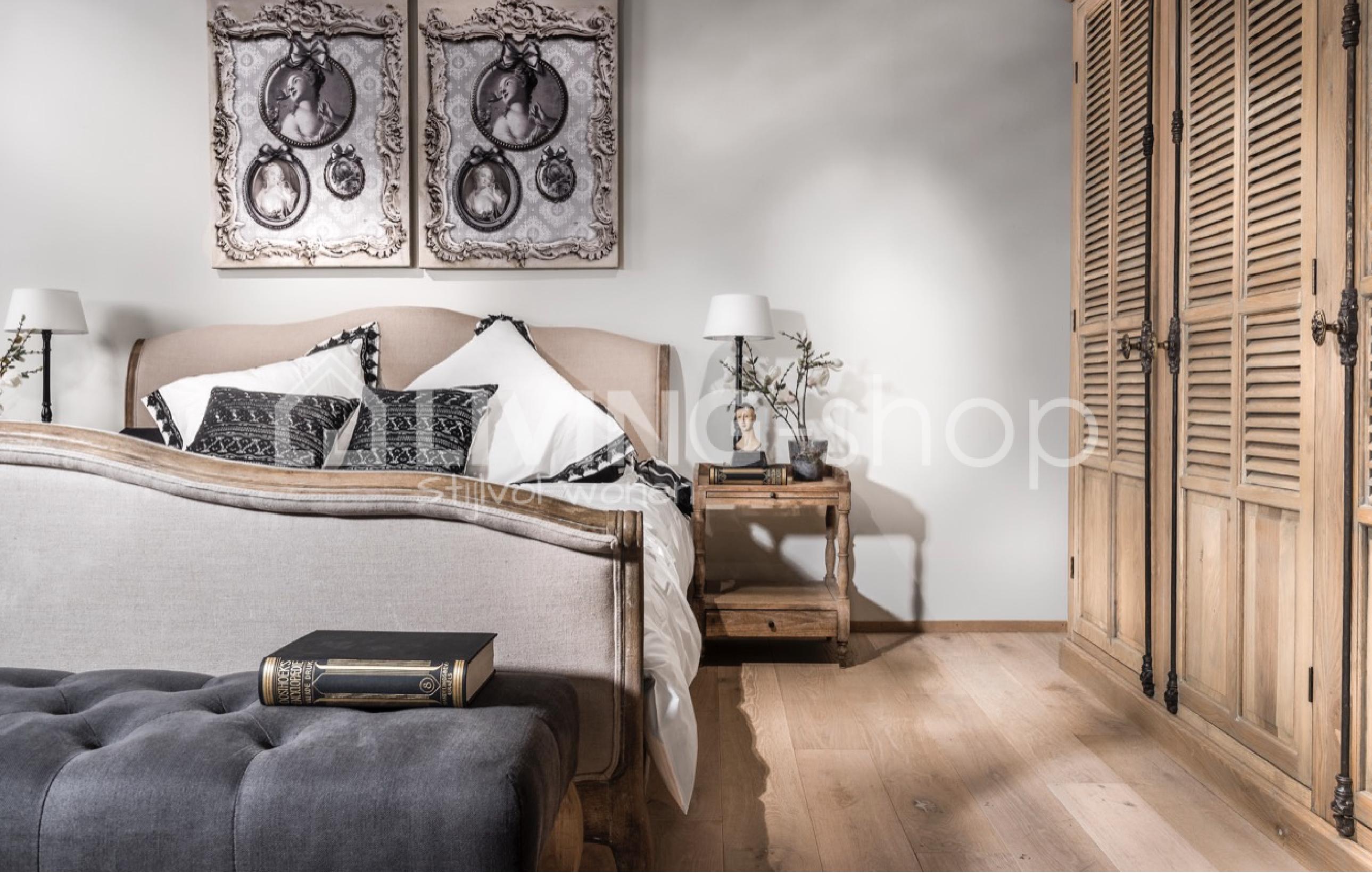 Slaapkamer Landelijke Stijl : Eiken bed landelijke stijl slaapkamer livingshop eu