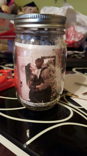 A jar of (Hershey) Kisses. Great long distance gift