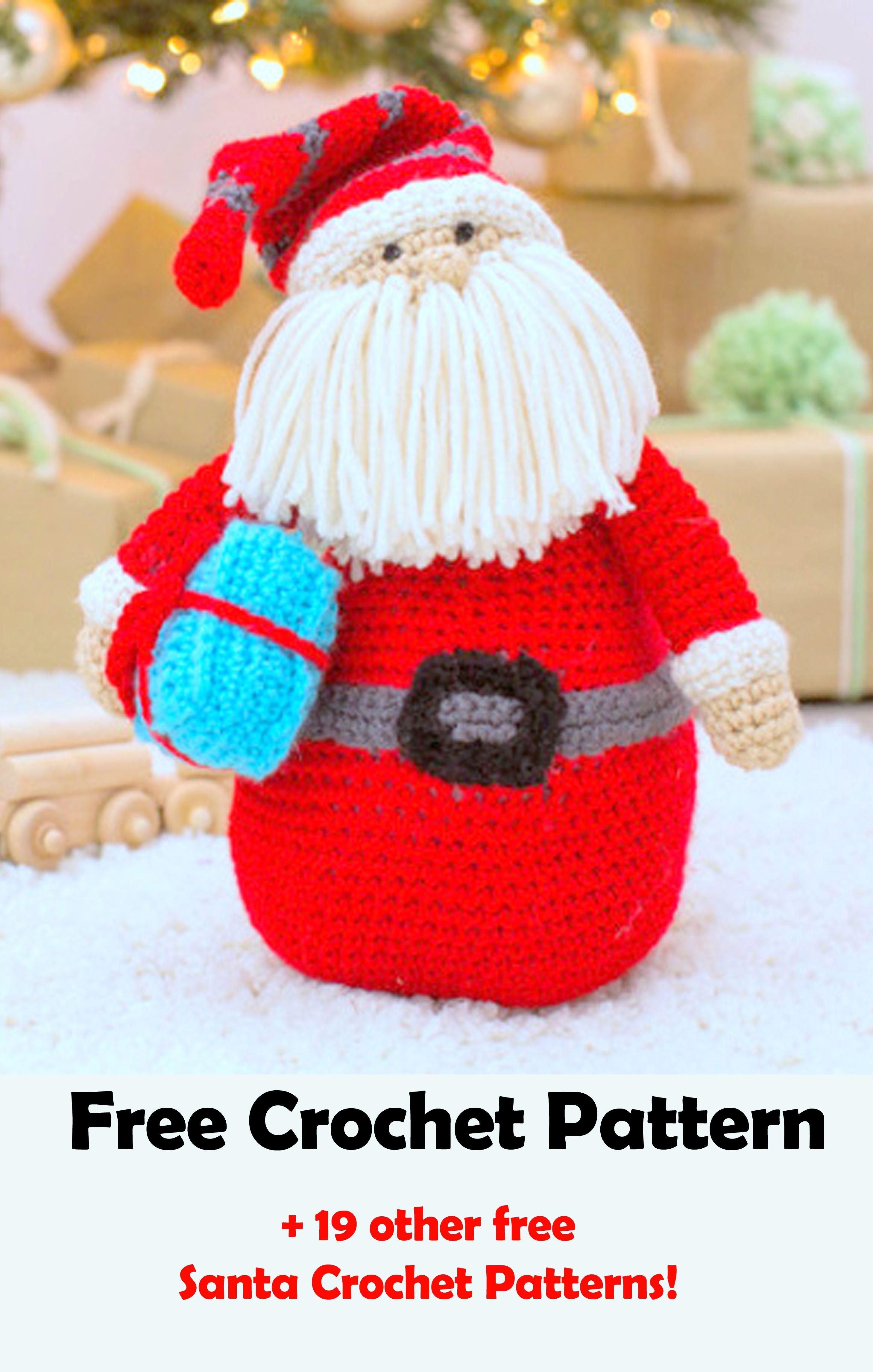 19 Free Amigurumi Christmas Santa Crochet Patterns | Amigurumi ...