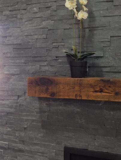 Carbon Ledgestone Fireplace Fireplace Stone Ledgestone