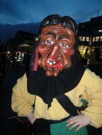Hexe Fasching beim Rathaussturm in Waiblingen. Schwäbische Fastnacht... Karneval ist toll!