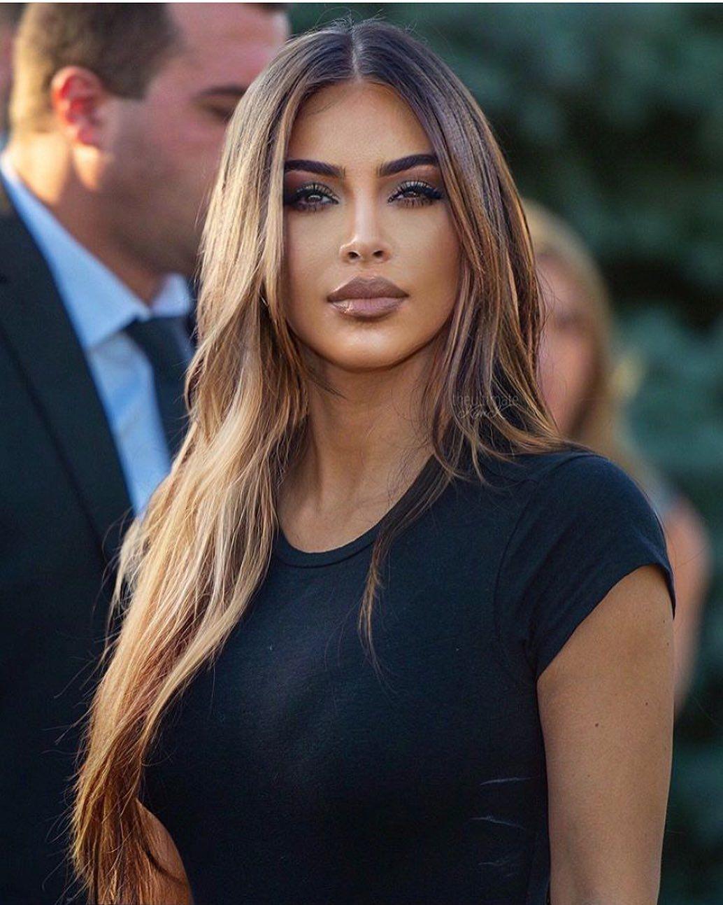 Kim Kardashian West On Instagram Kim With Light Brown Hair Kimkardashian Edit Theultimatekimk Hair Styles Long Hair Styles Kardashian Hair
