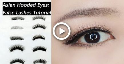 9fc84a3cb5d False Lashes Tutorial For Beginners: How to Choose and Apply False Lashes  for Asian Hooded Eyes #makeup