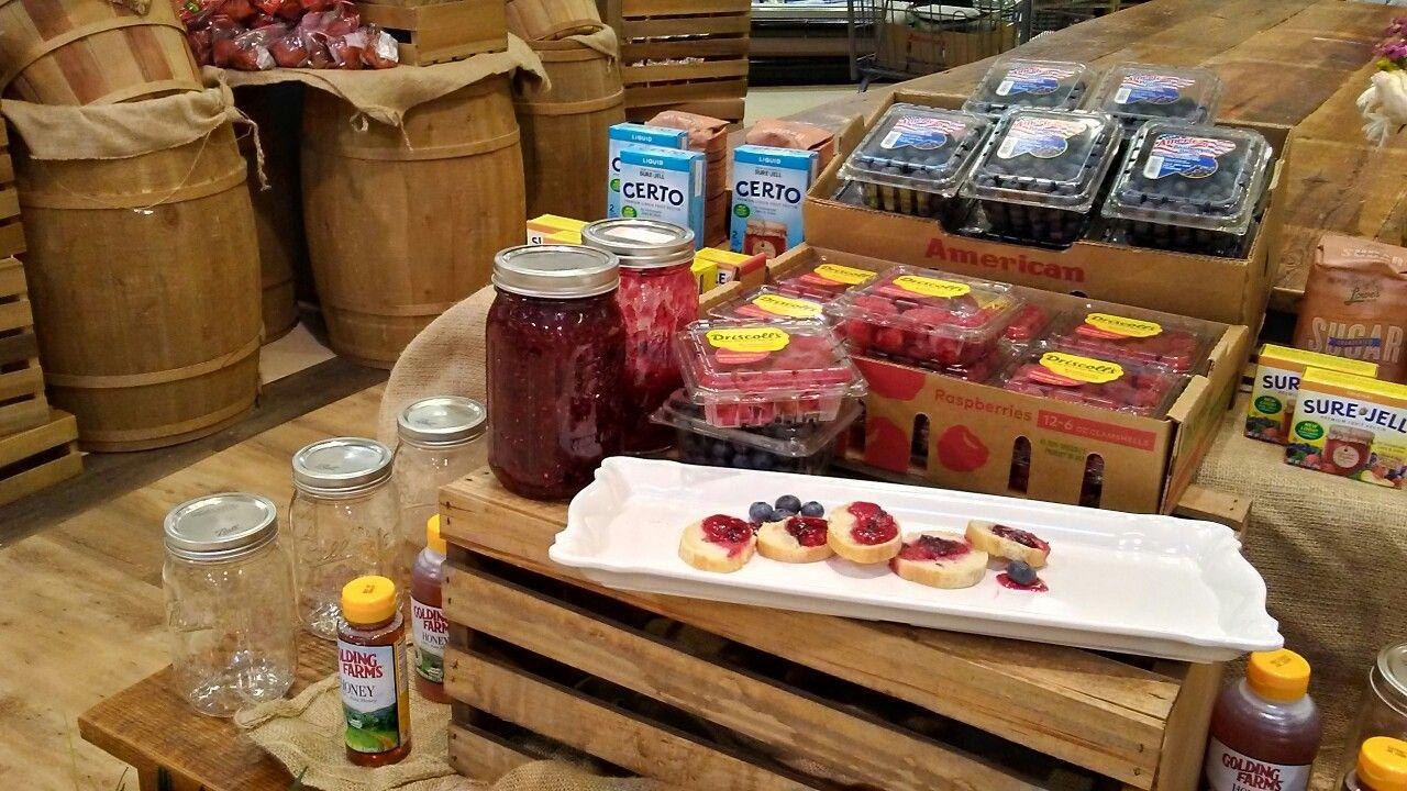 RaspberryBlueberry Freezer Jam Display (With images