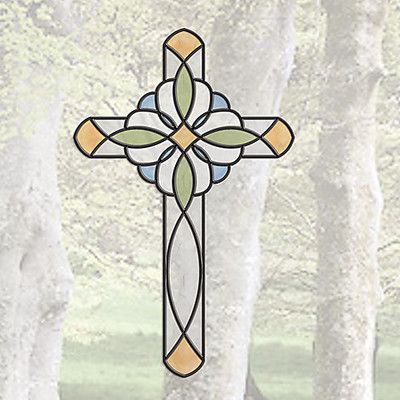 Brewster Home Fashions Window Decor Peel and Stick Cross Window Sticker