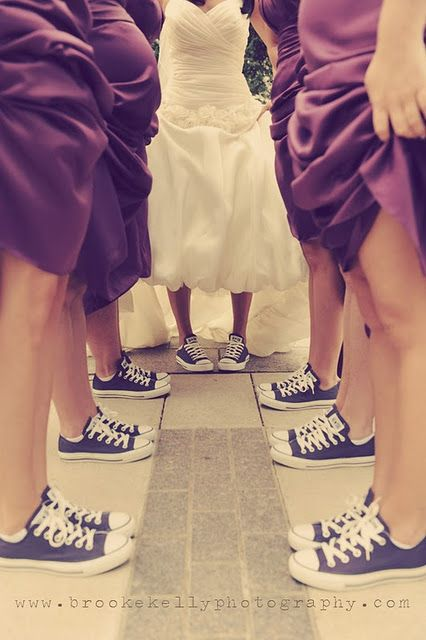 Converse Wedding Love Should Have Done This With My Girls Wedding Converse Wedding Shoes Comfortable Purple Wedding