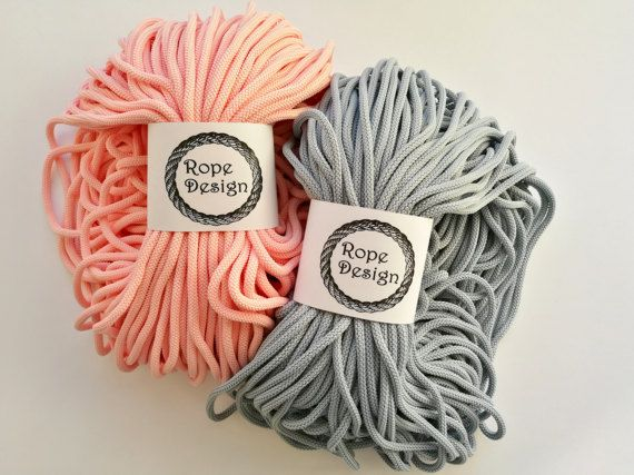 Macrame cord Colored cotton rope 100 yard strong cord  Soft textile cord Craft project Braided rope Textile 6mm cord Chunky polyester rope