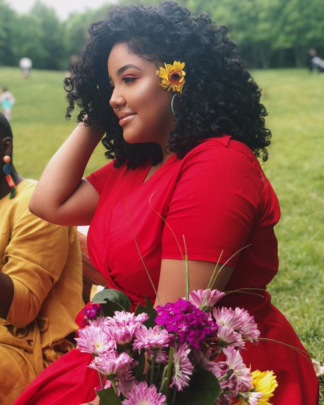 Beautymarked Illy Flowers Red Dress Plus Size Plus Size Women Curly Hair Natural Hai Curly Hair Styles Curly Hair Styles Naturally Natural Hair Styles