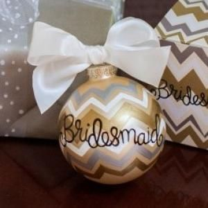 Capture wedding day memories with our charming Bridesmaid Ornament.