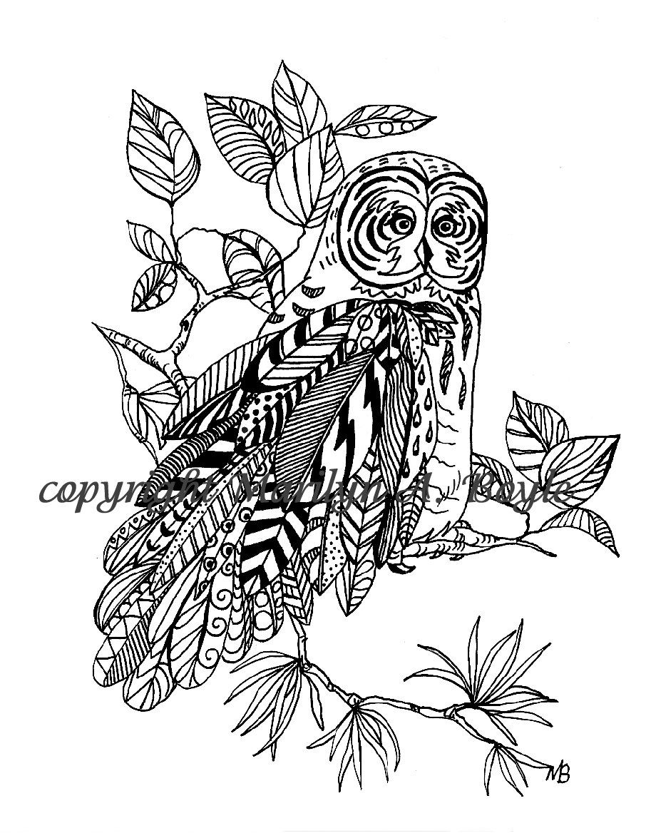 set of five coloring pages digital download original art