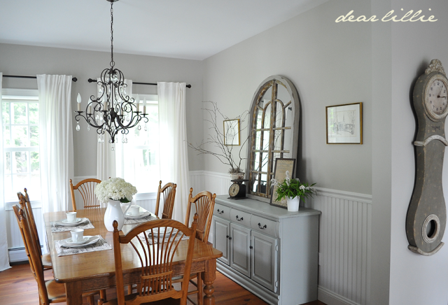 Wall Color Grey Dining Room Dinning Room Tables Revere Pewter