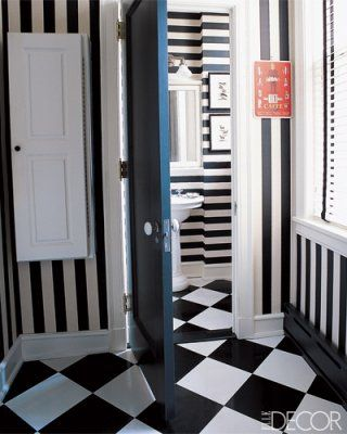 Decoratingideasstripedwalls In Bathroomstriped Rug In Hall - Black and white striped rug for bathroom decorating ideas