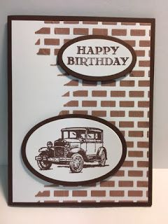Guy Greetings, Masculine Birthday Card, Embossing Paste Technique