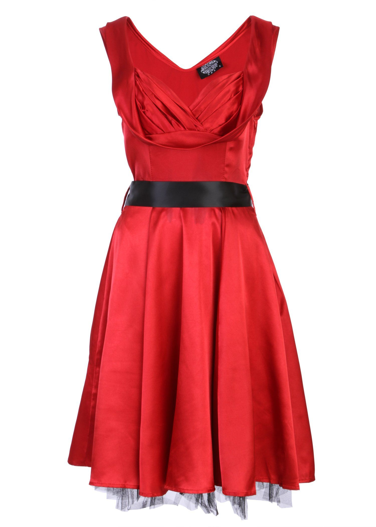 Glamorous Red 1950's Dress Vintage Style Sweetheart Full Circle Party Cocktail Prom - Size X-Small