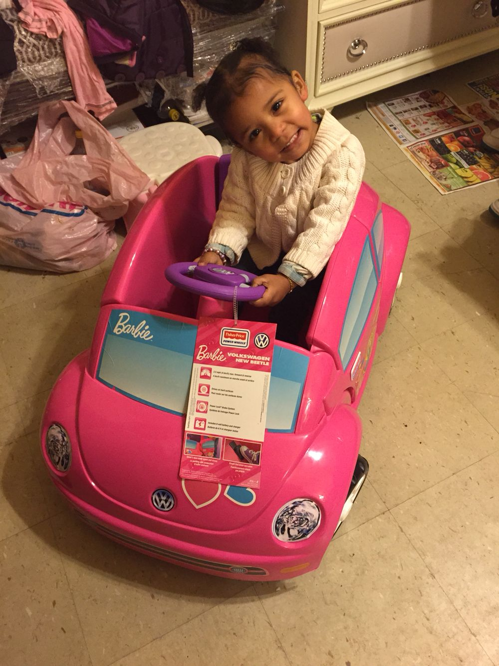 Angie xmas she got a car
