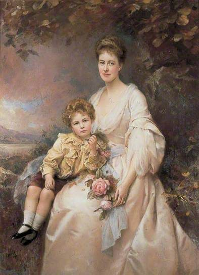 Mrs Laura Gascoigne (d.1949), and Her Son Alvary (1893–1970), 1898 by Edward Hughes
