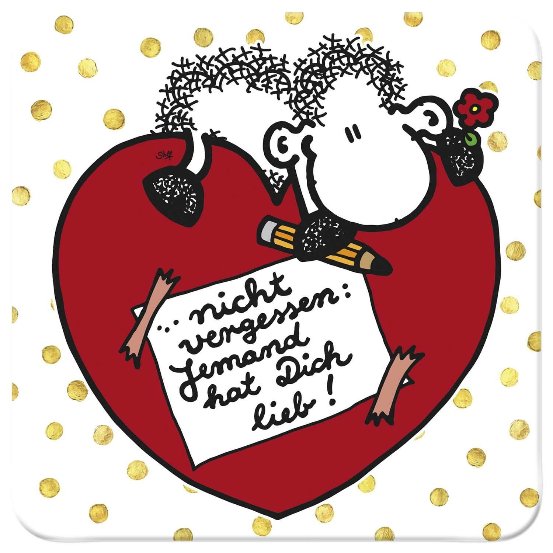 sheepworld Untersetzer »Jemand hat Dich lieb!«