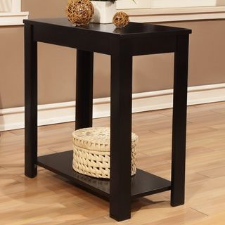 Amazing Black Wooden Chair Side End Table