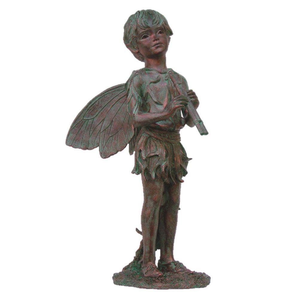 Fairy Peter Bronze Patina Collectible Garden Statue
