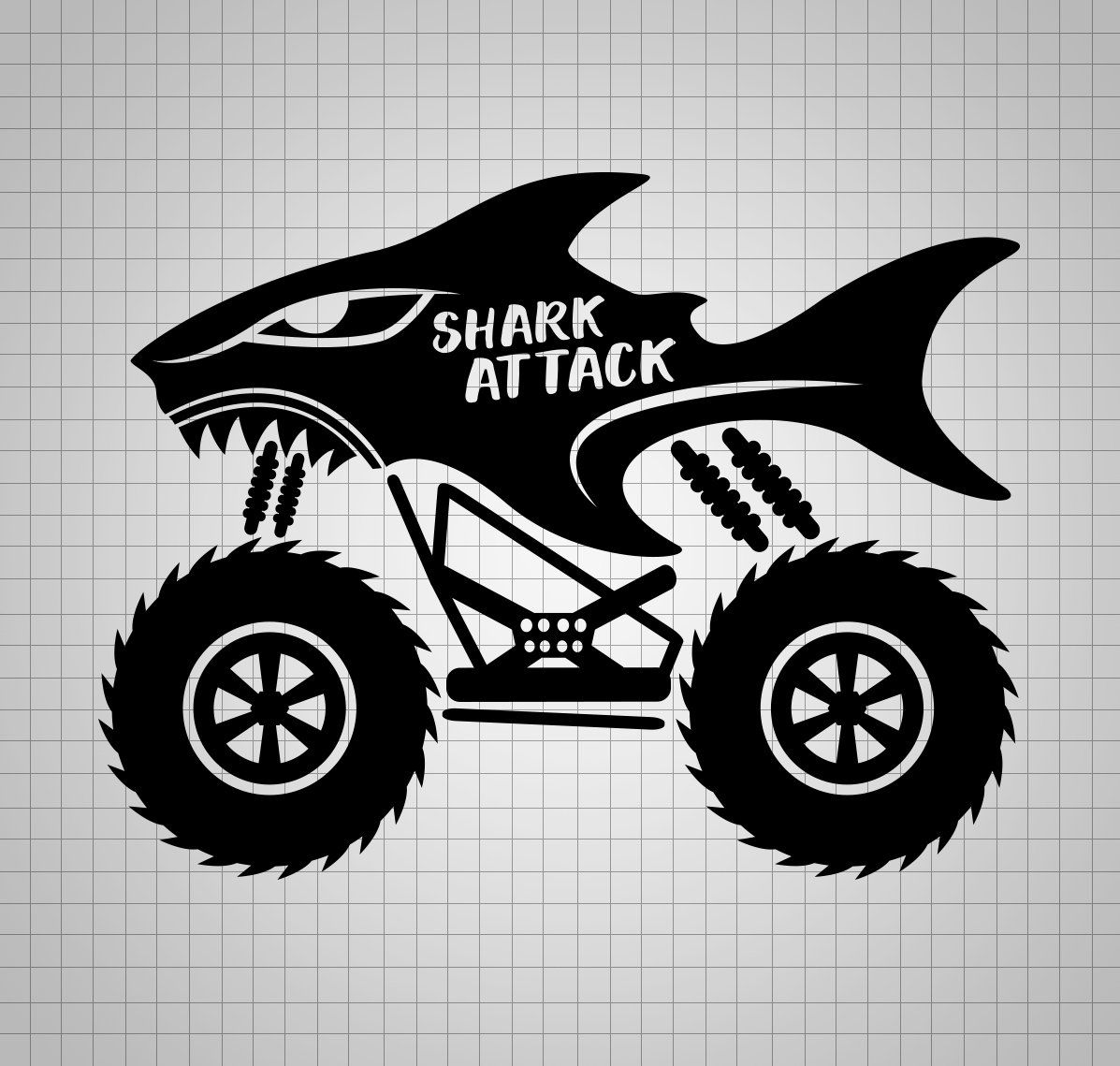 Shark Svg Monster Truck Svg File Boy Monster Truck Dxf Boy Etsy Monster Trucks Monster Truck Drawing Monster Truck Bedroom