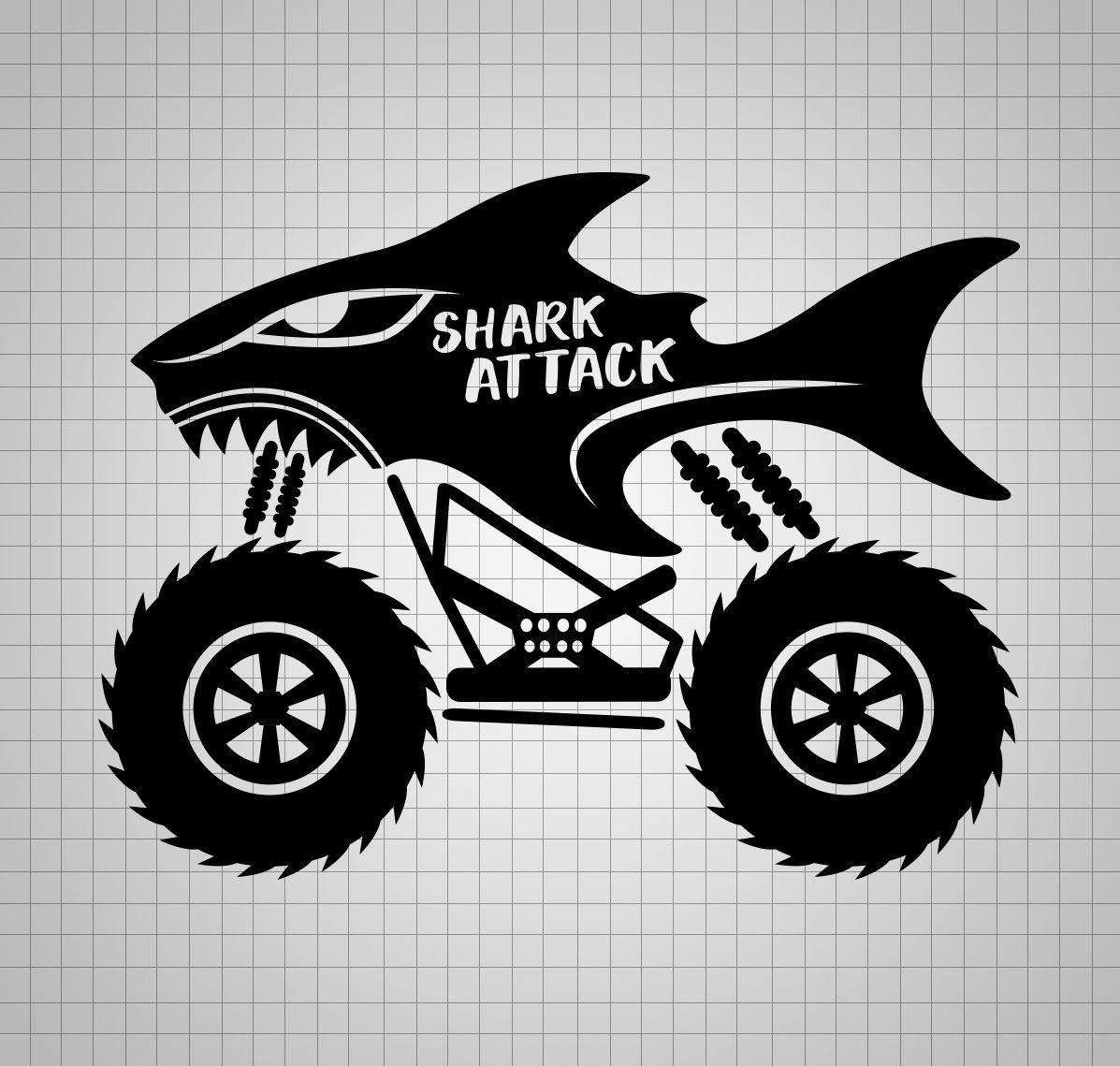 Download Shark Svg Monster Truck Svg File Boy Monster Truck Dxf Boy ...