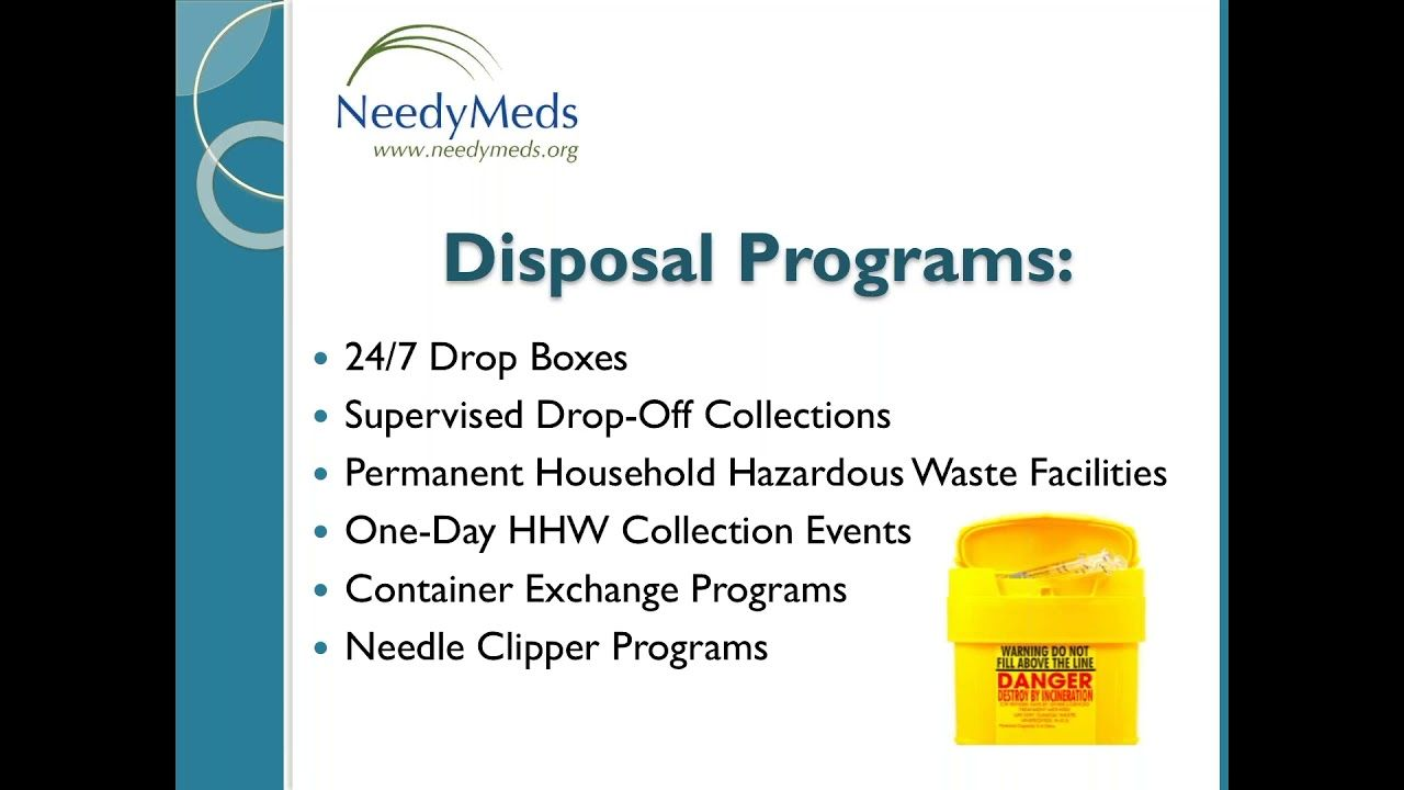 NeedyMeds Brief Safe Needle Disposal 3 Disposable