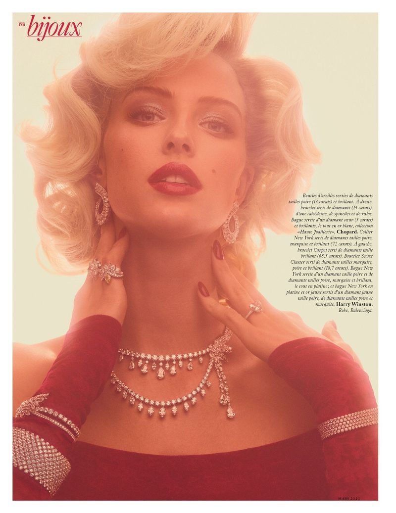 Photo of Abby Champion is Dripping in Diamonds for Vogue Paris