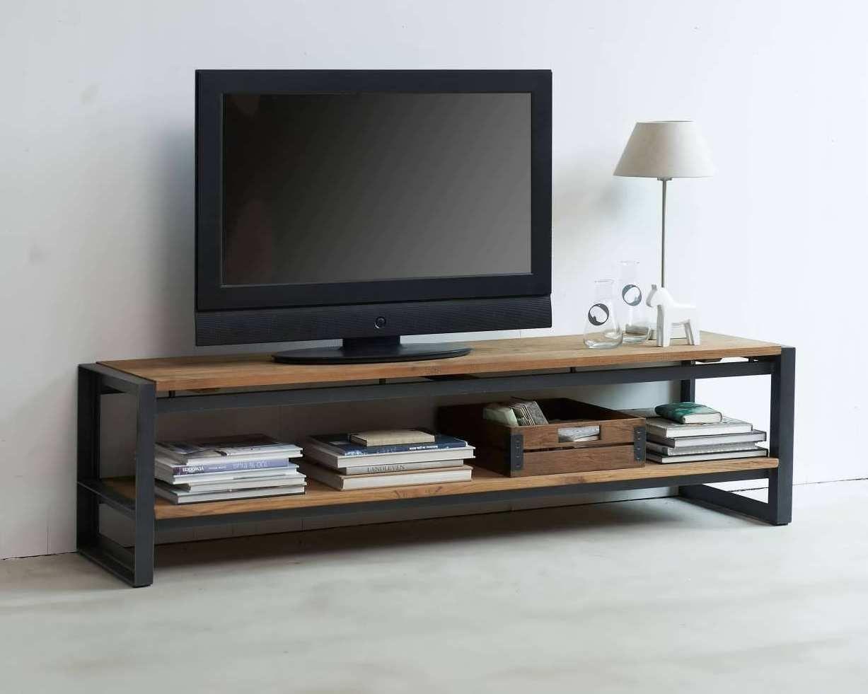 Tv Meubel Gerecycled Teakhout.Zamunda Tv Meubel In 2019 Pallet Tv Stands Tv Rack Living Room