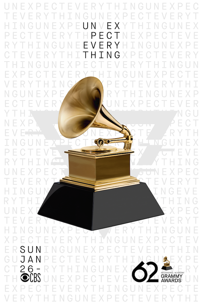 The 62nd Annual Grammy Awards Cbs January 26 2020 A Ceremony Is Scheduled For January 26 2020 At Staples Center In Los A Grammy Awards Grammy Award Poster