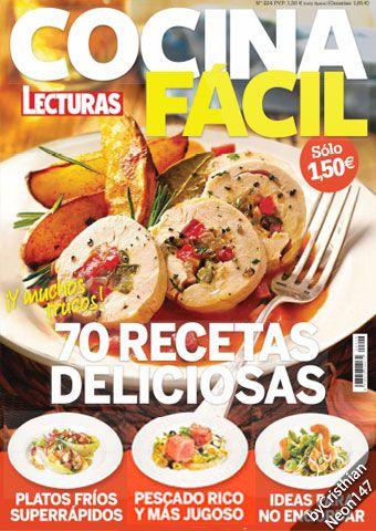 Revista Lecturas Cocina Facil | Cocina Facil Lecturas Agosto 2016 70 Recetas Deliciosas Y