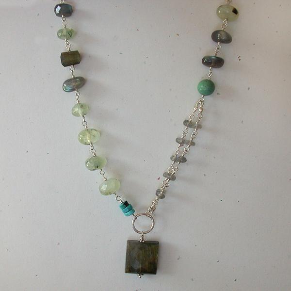 Labradorite and Prehnite Necklace — Soho South Imports