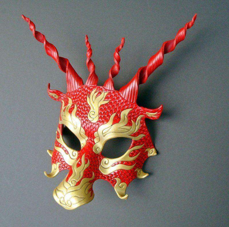 Yulong Red Dragon Mask by *merimask on deviantART ...