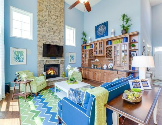 Beau Blue U0026amp; Green Design Ideas With Coastal Touches. Featured On Completely  Coastal: Http