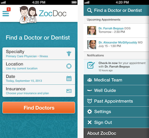 Zoc Doc App Feeling Sick Primary Care