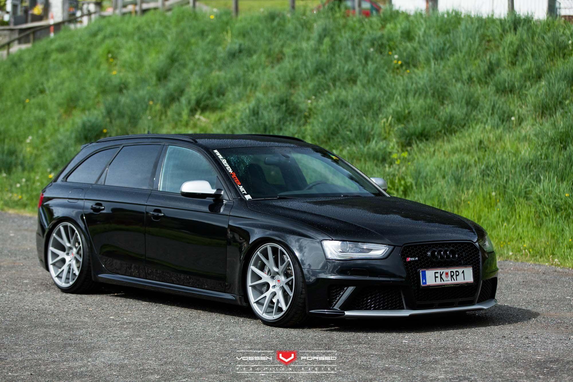 Dropped Black Audi Rs4 With Custom Tweaks Motos