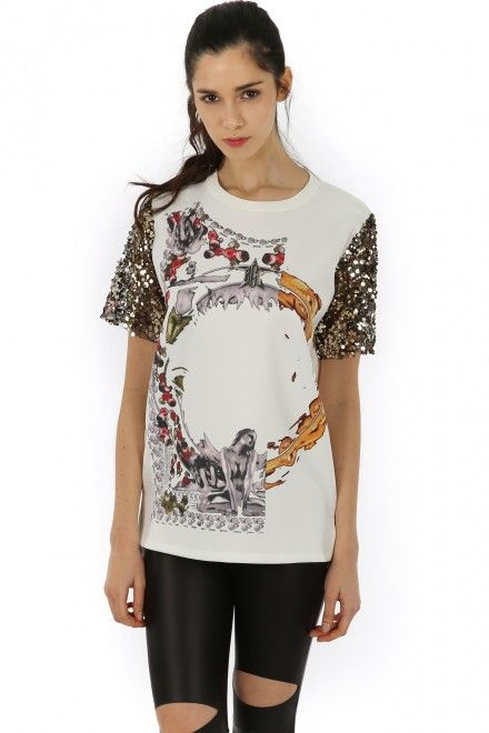 GIVENCHIC SEQUIN SLEEVE TOP