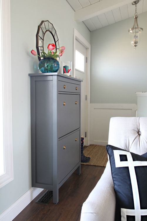 one room challenge week 3 painted shoe cabinet seating update rh pinterest com