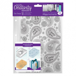 A5 Clear Stamp Set (1pcs) - Paisley Background
