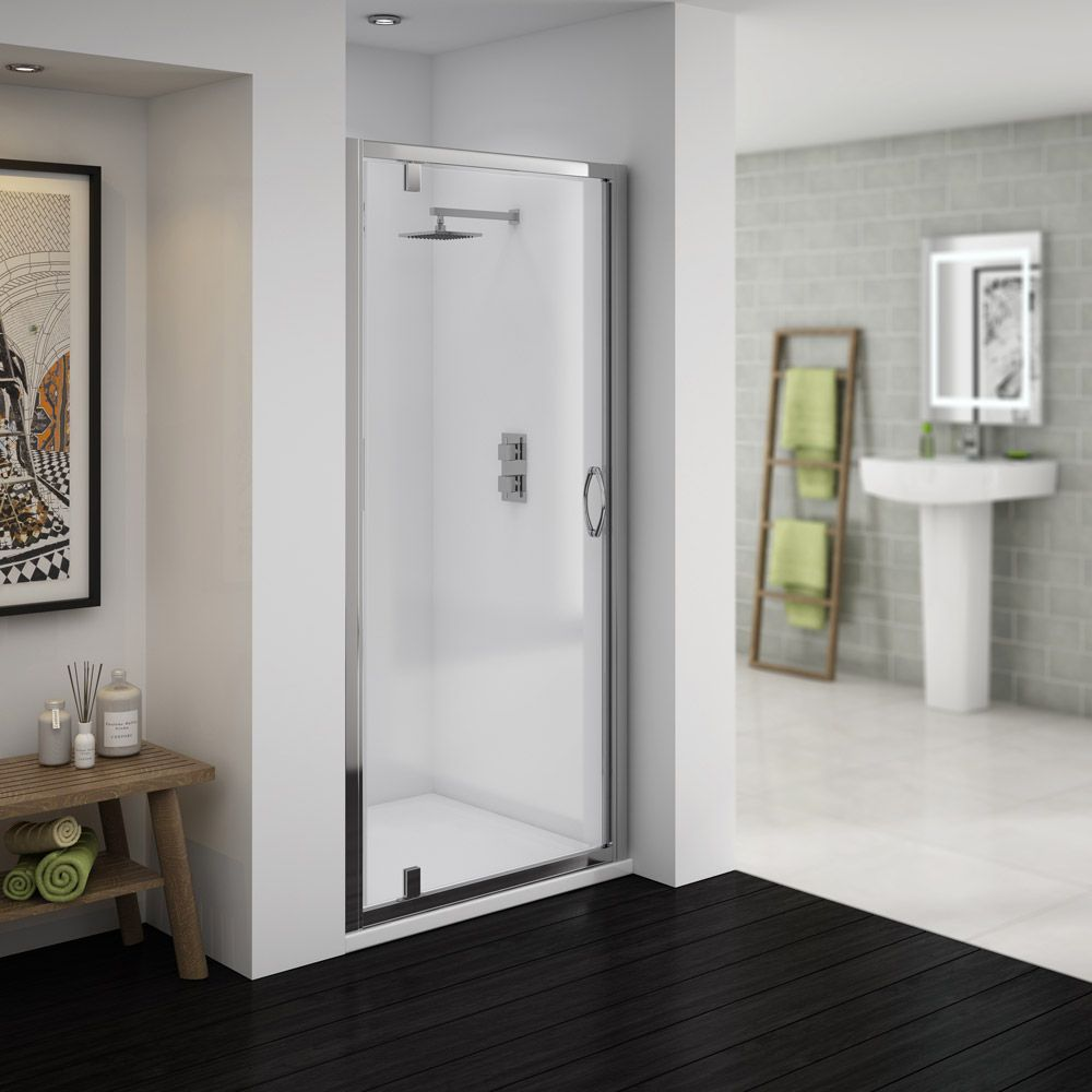 Newark 1850mm Pivot Shower Door Now At Victorian Plumbing Co Uk Shower Doors Shower Cubicles Shower Enclosure
