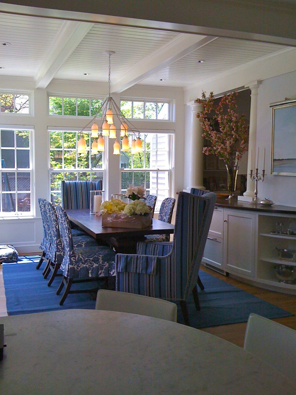 We Used The Sara Chandelier White Shades With A Frame Job I Did When Was Project Managing At S