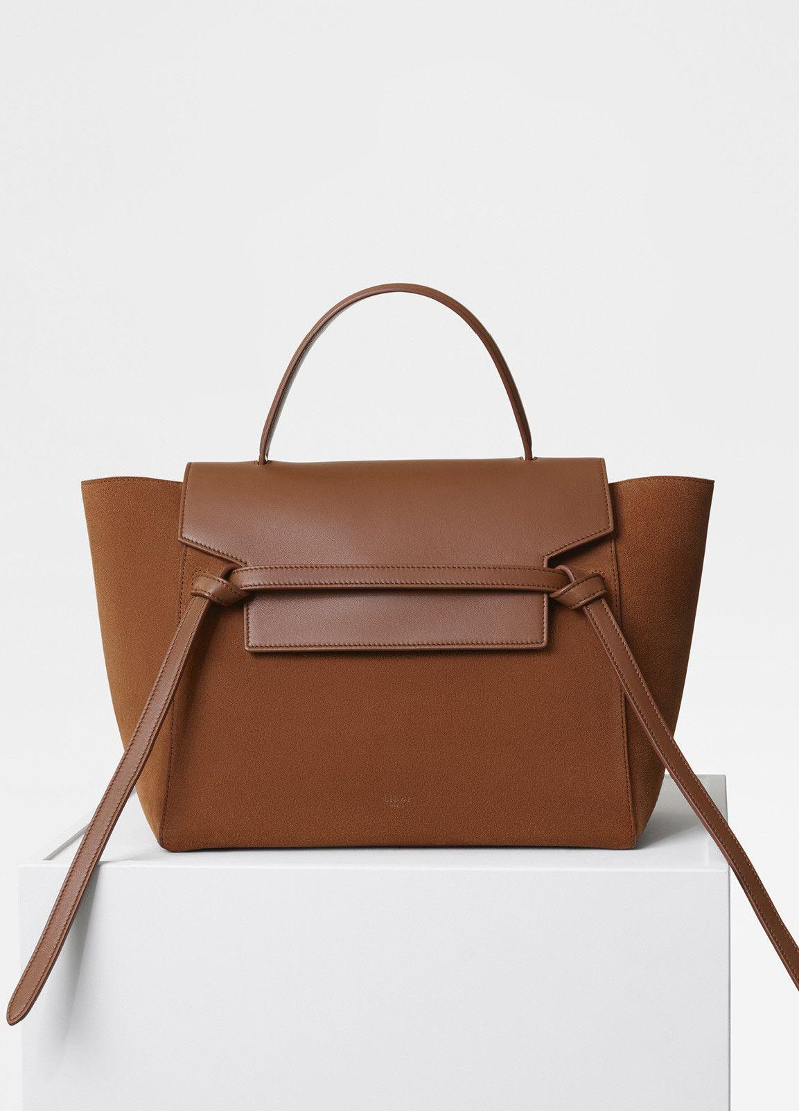 e61ed4762e Celine Tan Suede Mini Belt Bag