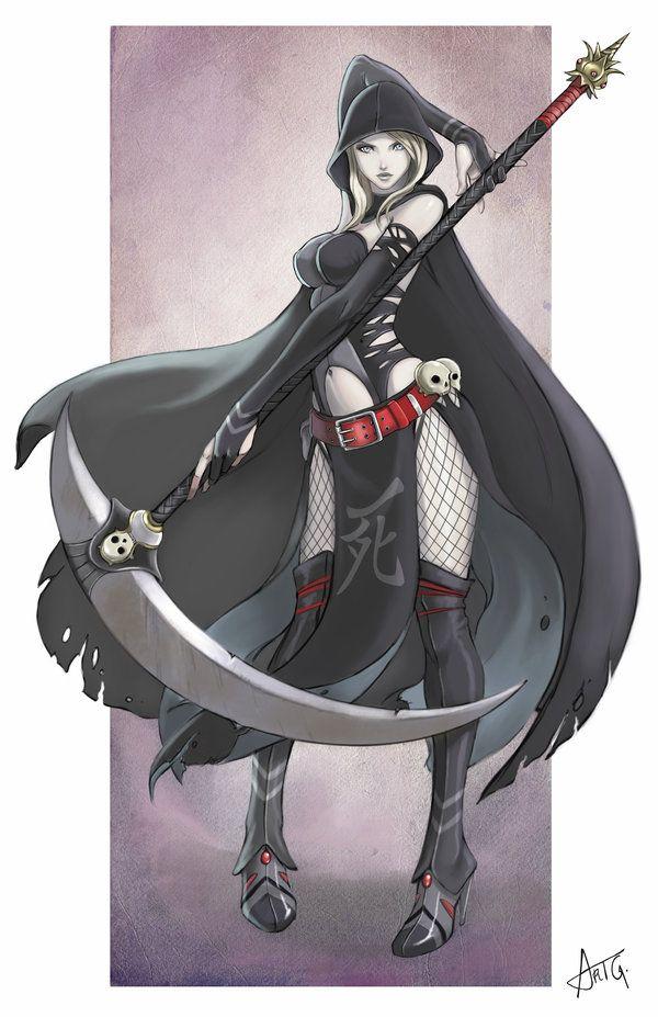 Grim Reaper Girl Female Grim Reaper Anime Grim Reaper Grim Reaper Art