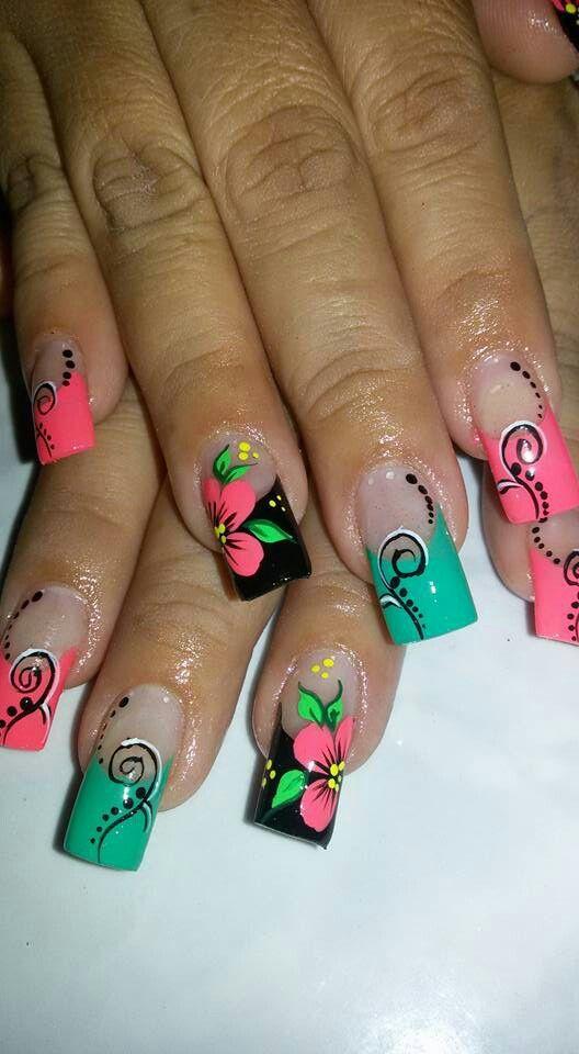 Casual | Uñas anchas, Arte para uñas cortas, Uñas decorada