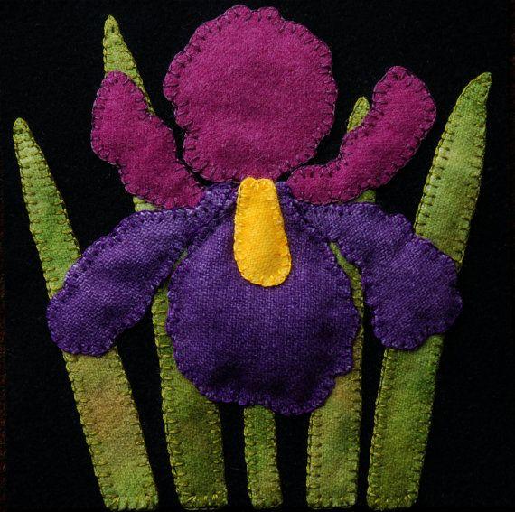 Apliques de lana BOM PATRÓN y/o KIT Iris 6 por HorseAndBuggyCountry
