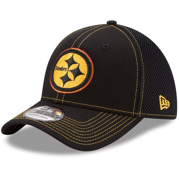 Pittsburgh Steelers New Era Youth Shock Stitch Neo 39THIRTY Flex Fit Hat -  Black -  21.99 edd8f18dc