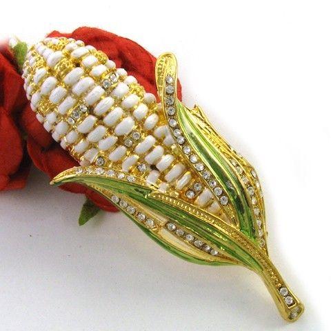 Enamel Corn Pin