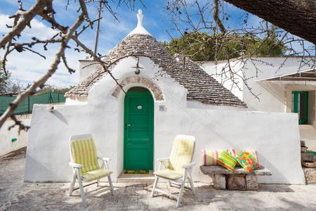 House in Cisternino, Brindisi, Italy. Located in Cisternino, in a typical farmyard in the middle of the Itria Valley, peers out this compound of Trulli of the 1800, recently restored according to the tradition of the masters Trulli craftsmen. A magical place to spend a relaxing holida...