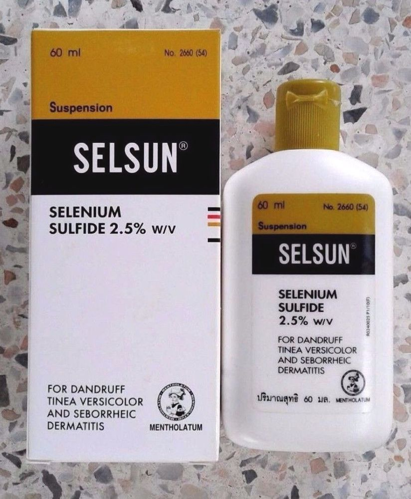 Selsun Selenium Shampoo Get Rid Of Dandruff And Ringworm Tinea On